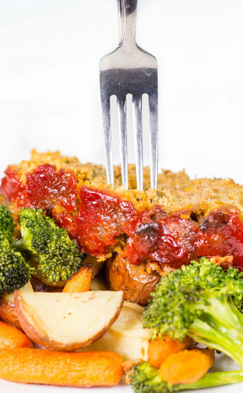 Gluten Free Meatloaf made on Sheet Pan
