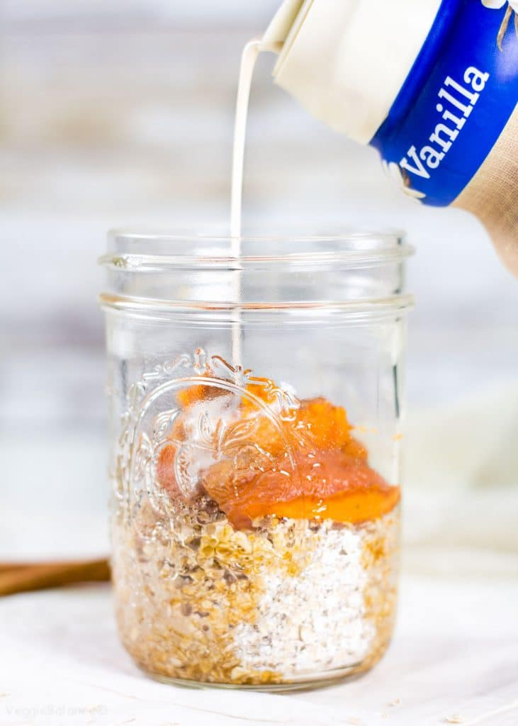 Pumpkin Overnight Oatmeal