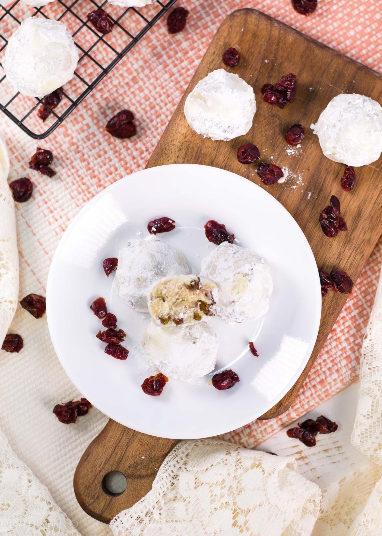 Cranberry Pistachio Tea Cookies recipe