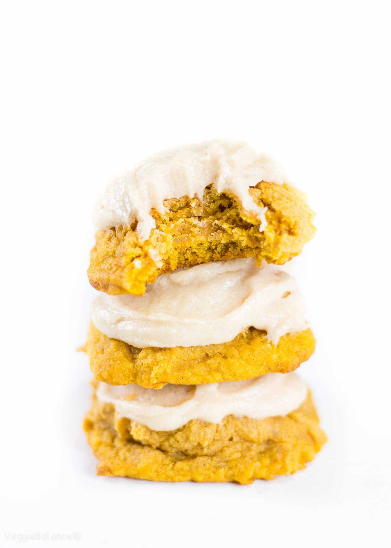 Gluten Free Soft Baked Pumpkin Cookies with Brown Sugar Frosting