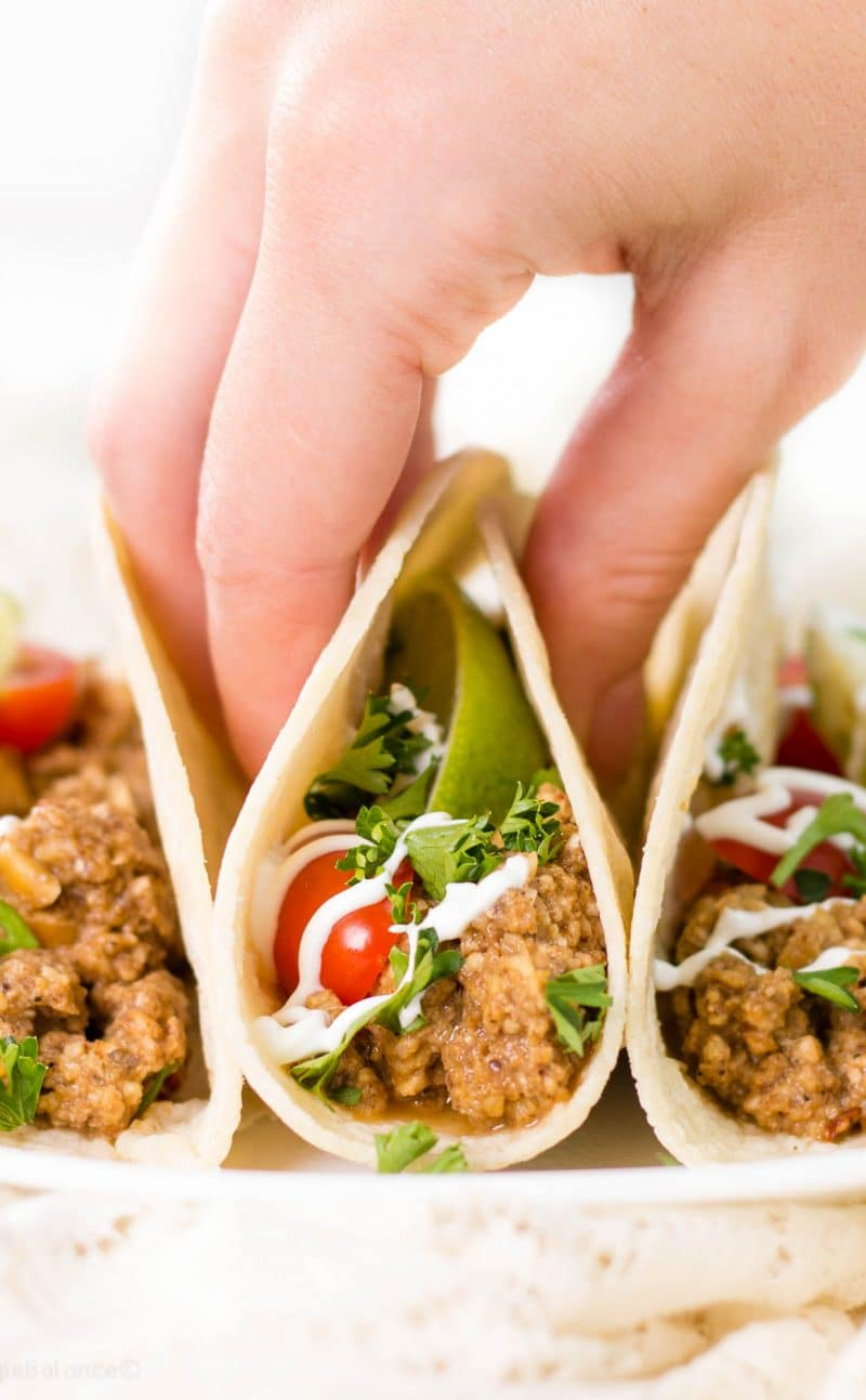 Vegetarian Taco Meat thats Gluten-Free