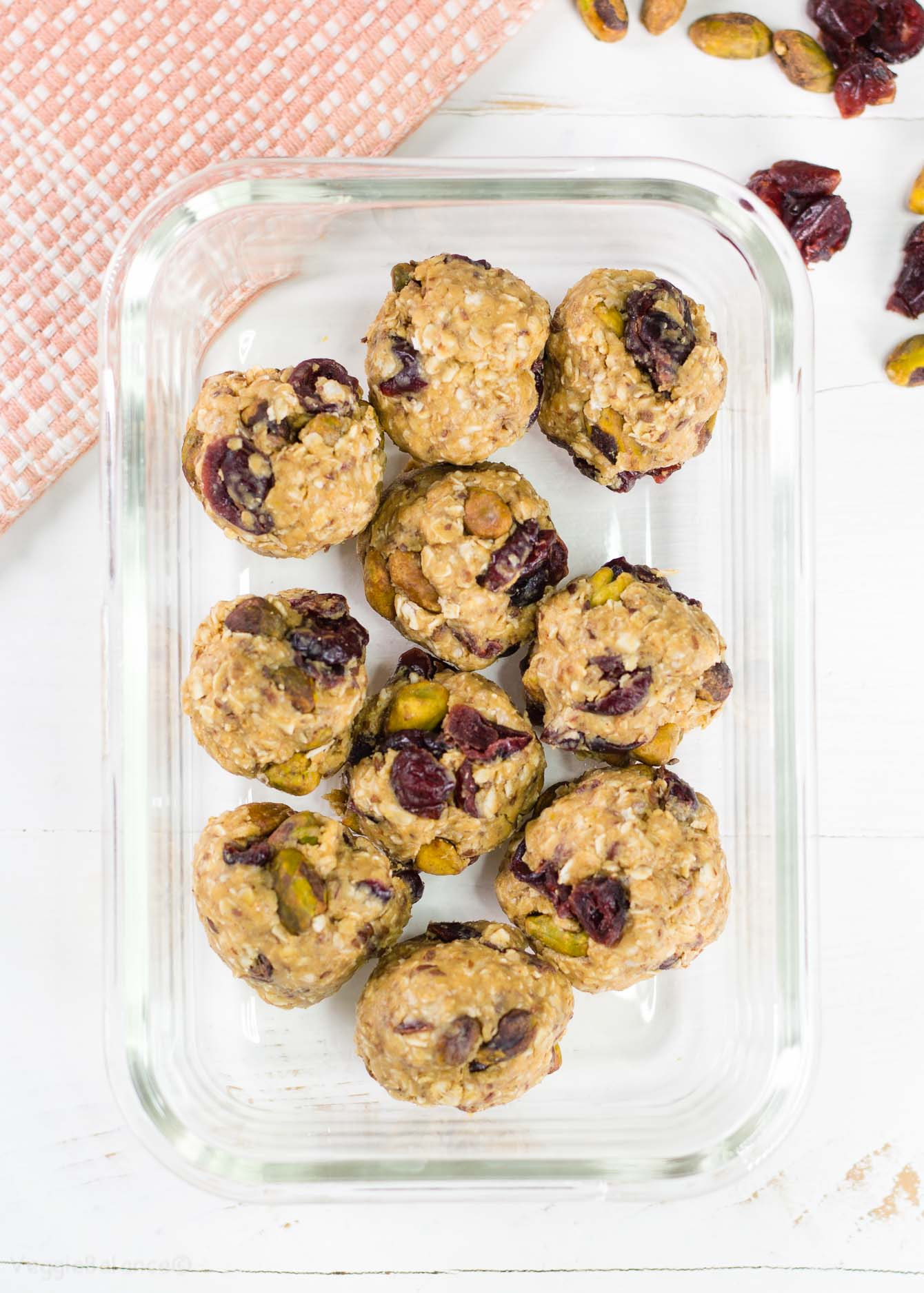 Cranberry Pistachio Energy Bites bring the business of getting up and going within reach.