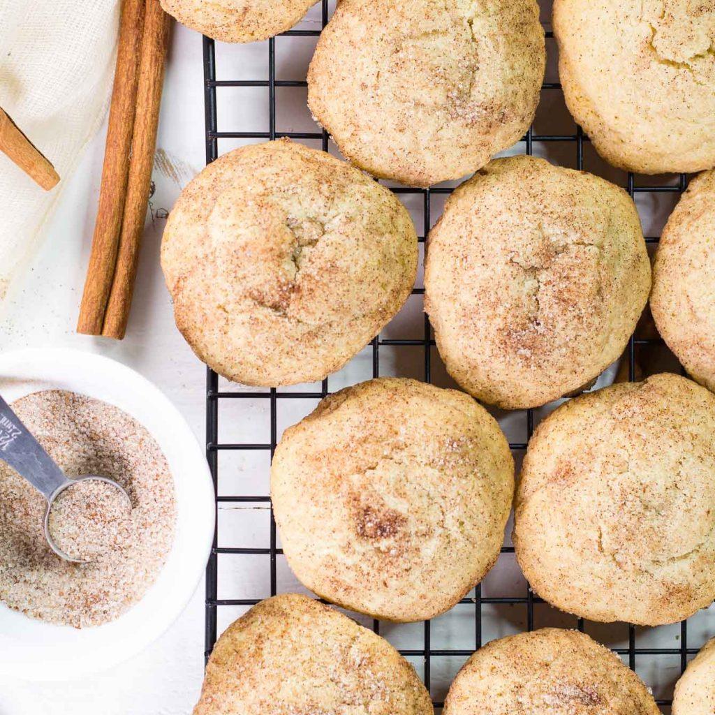 Healthier Snickerdoodle Cookies (++ GIVEAWAY)