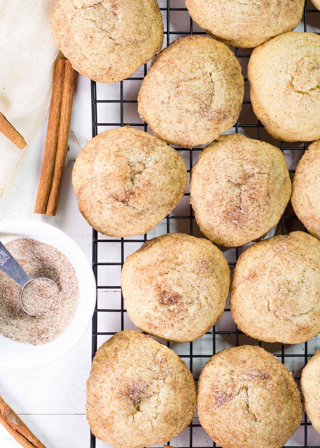 Healthier Snickerdoodle Cookies recipe - VeggieBalance