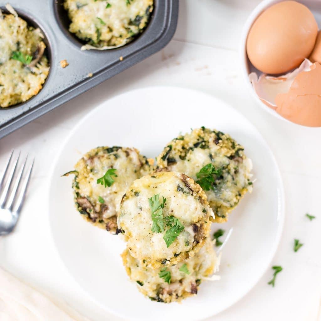 Spinach Mushroom Quinoa Egg Cups