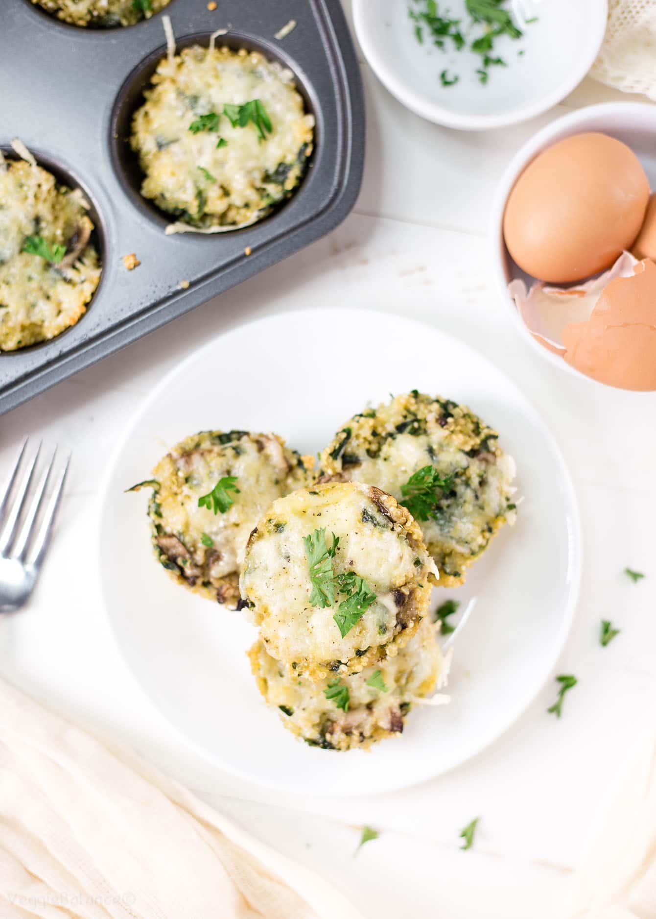 Spinach Mushroom Quinoa Egg Cups Gluten Free Recipes