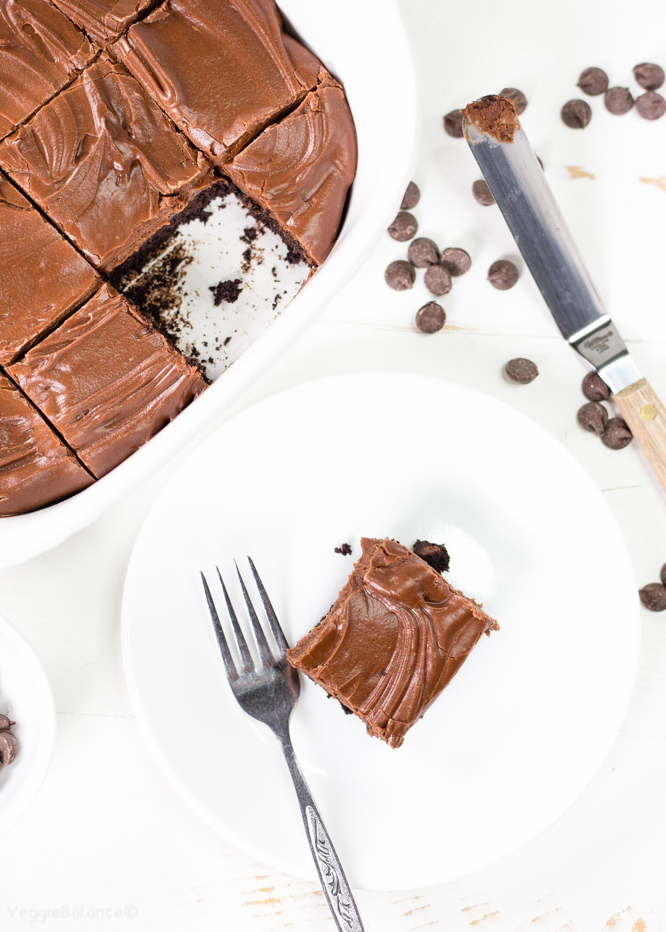Best Ever Gluten-Free Brownies recipe with chocolate fudge frosting