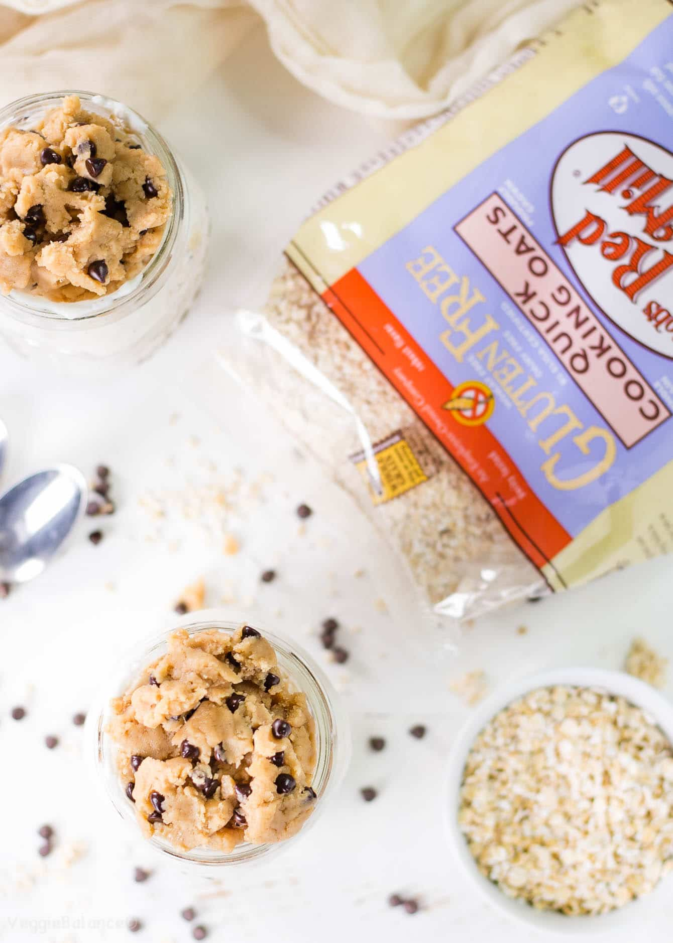 Chocolate Chip Cookie Dough Overnight Oatmeal recipe