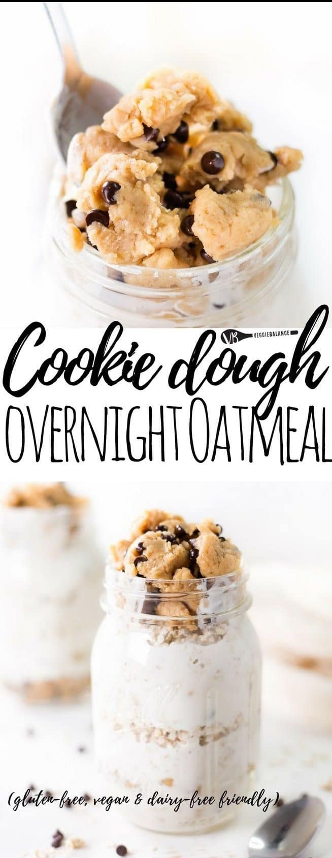 Cookie Dough Overnight Oatmeal recipe to make those mornings that much better with a healthy cookie dough layer, yogurt and oats to kick start the day with breakfast the right way.