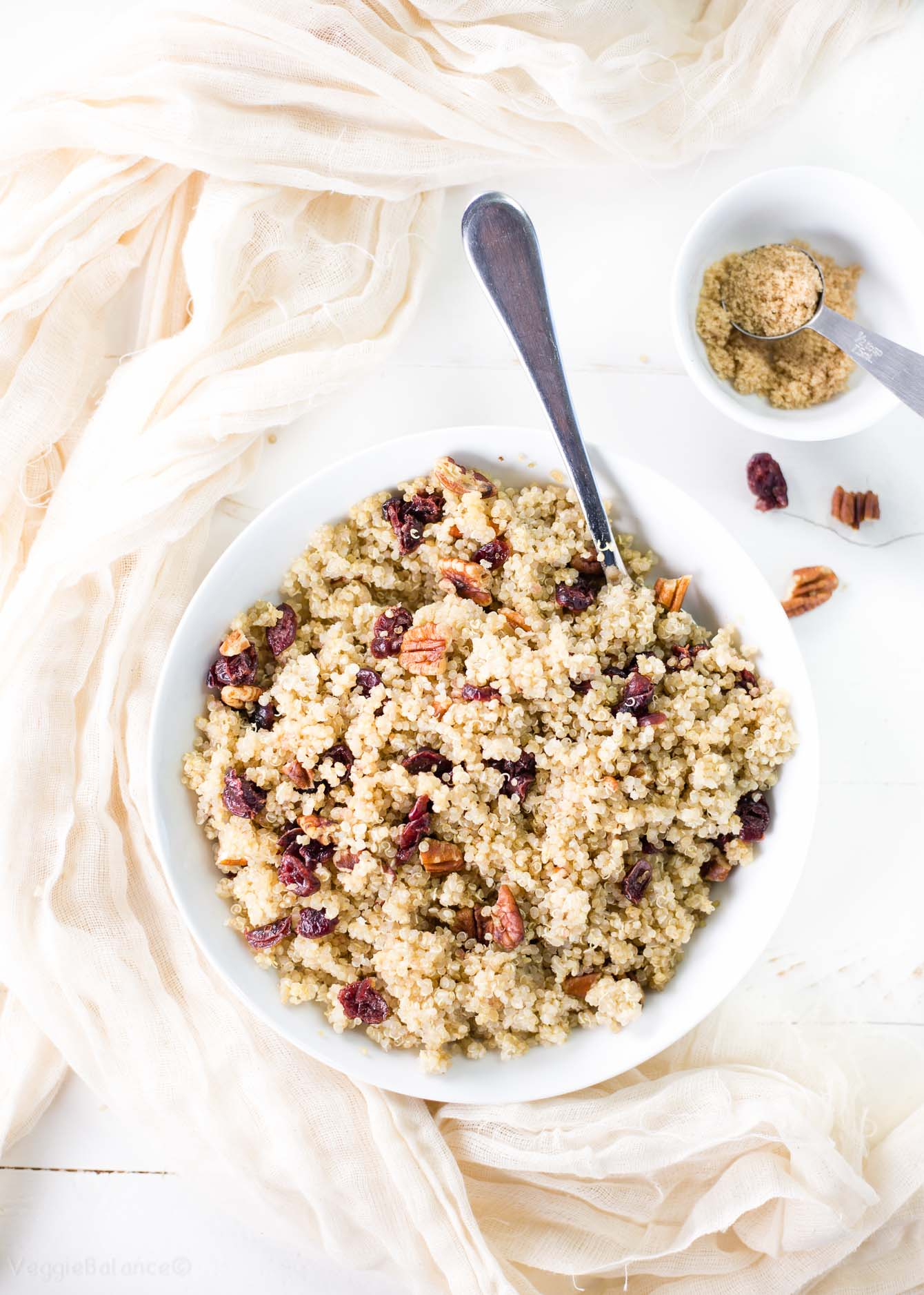 Cranberry Pecan Brown Sugar Quinoa