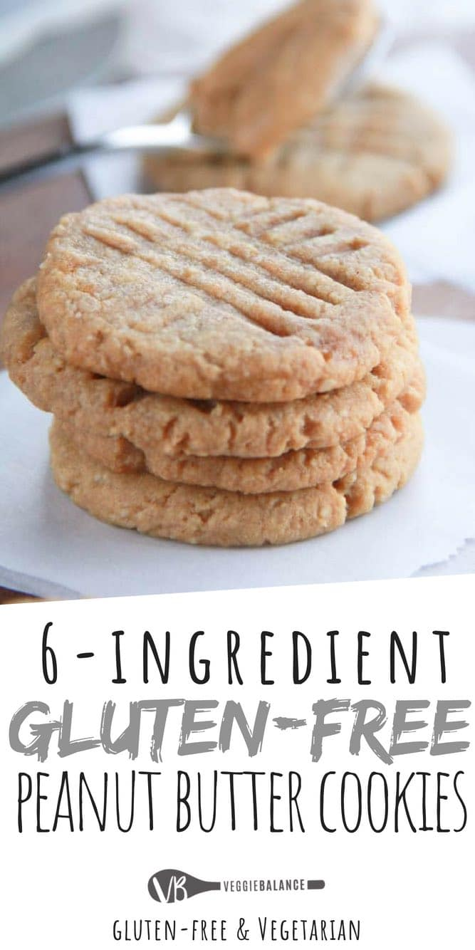 Gluten Free Peanut Butter Cookies are made with Only 6 natural ingredients. So easy to make they are dangerous. . . So dangerously good that is.