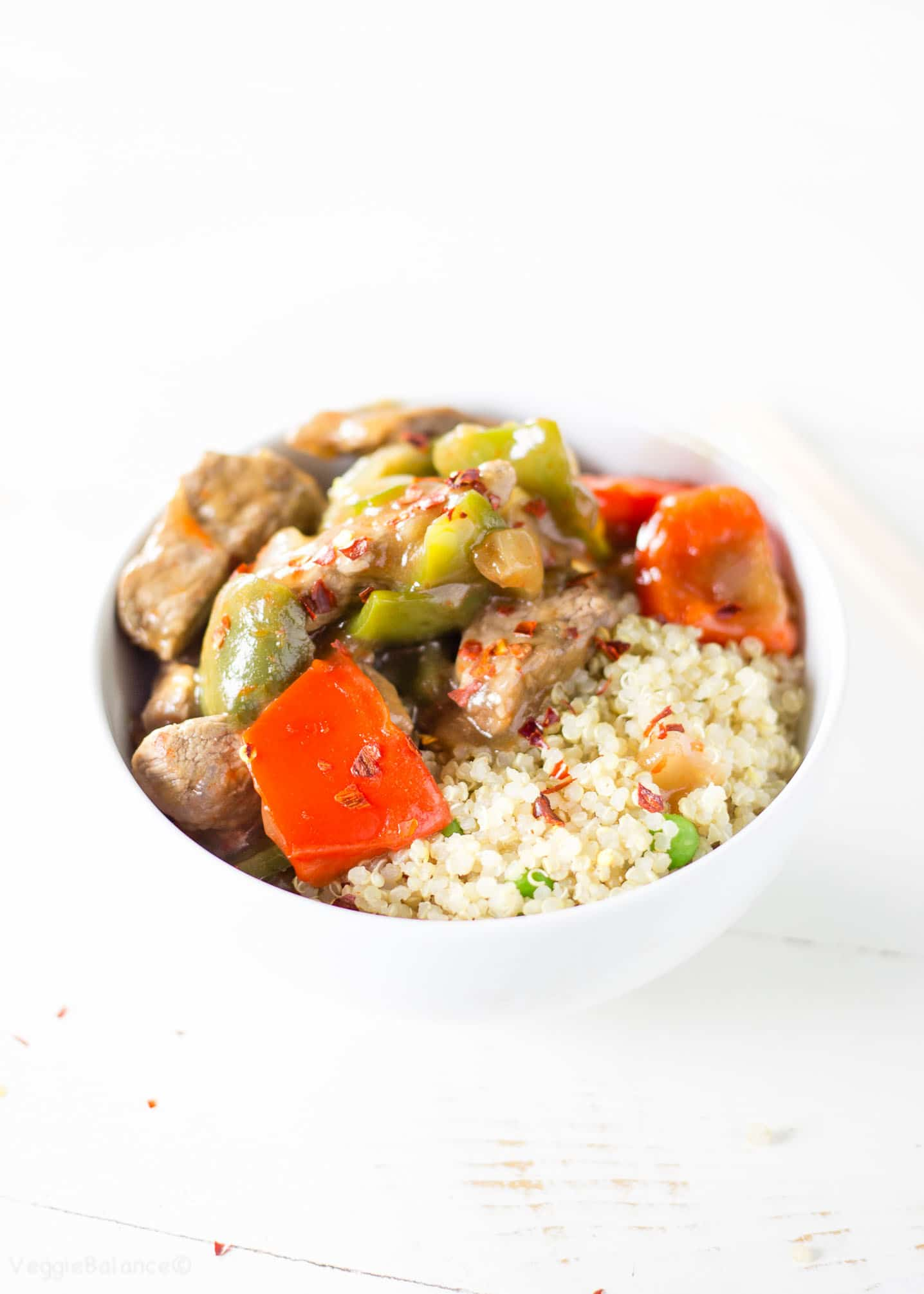Chinese Pepper Steak over rice