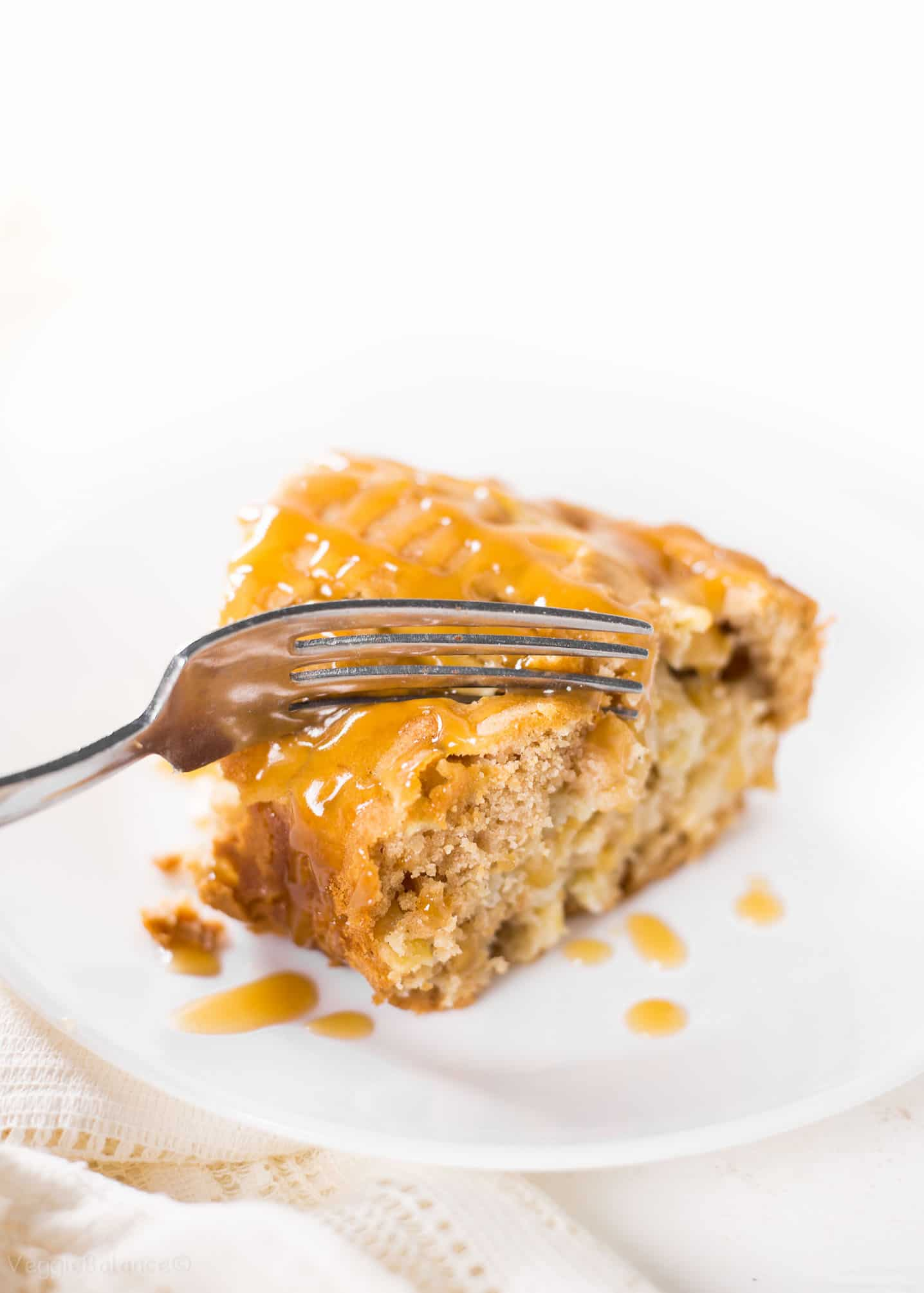 Gluten-Free Apple Coffee Cake with Homemade Caramel Sauce