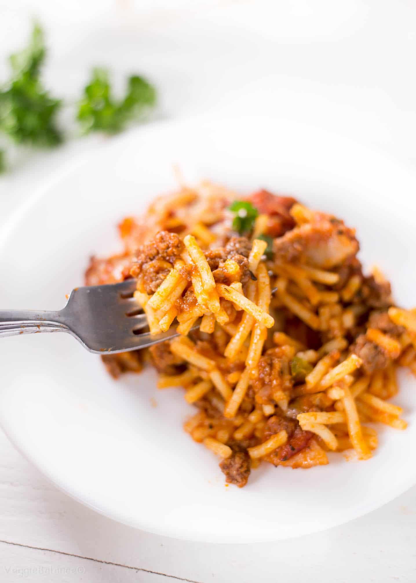 Baked Spaghetti Casserole (Gluten-Free) recipe
