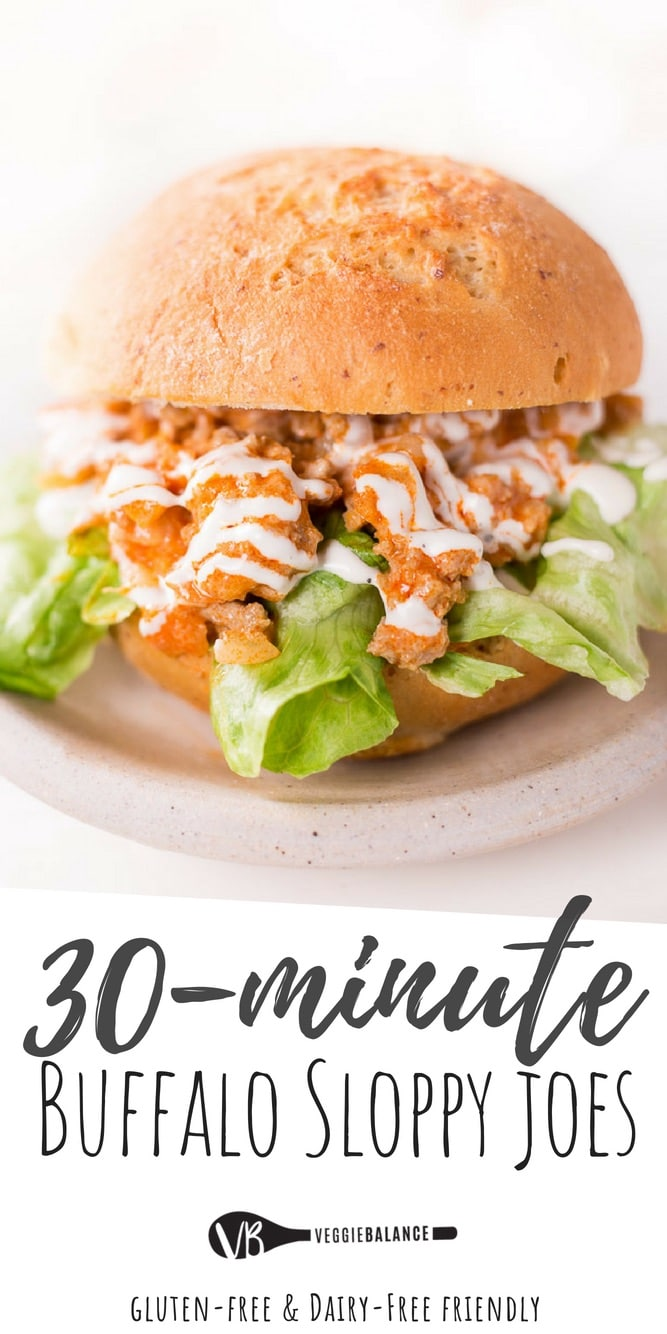 Buffalo Chicken Lettuce Wraps (Buffalo Sloppy Joes)