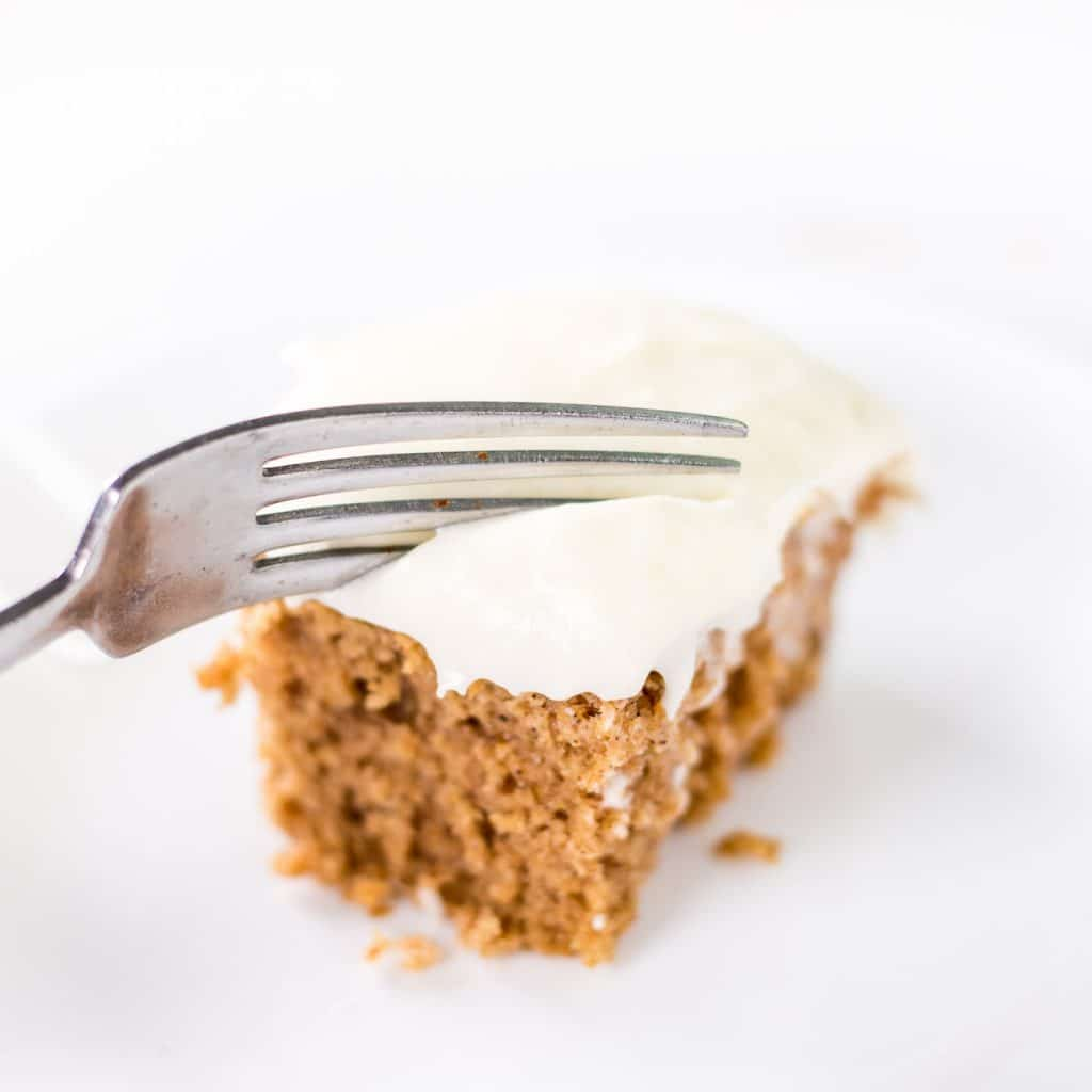 Applesauce Spice Cake with Cream Cheese Frosting