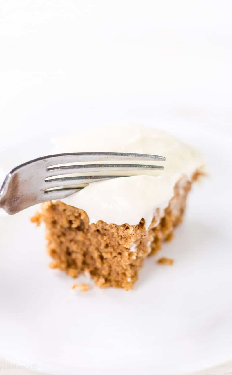 Applesauce Spice Cake with Cream Cheese Frosting Recipe