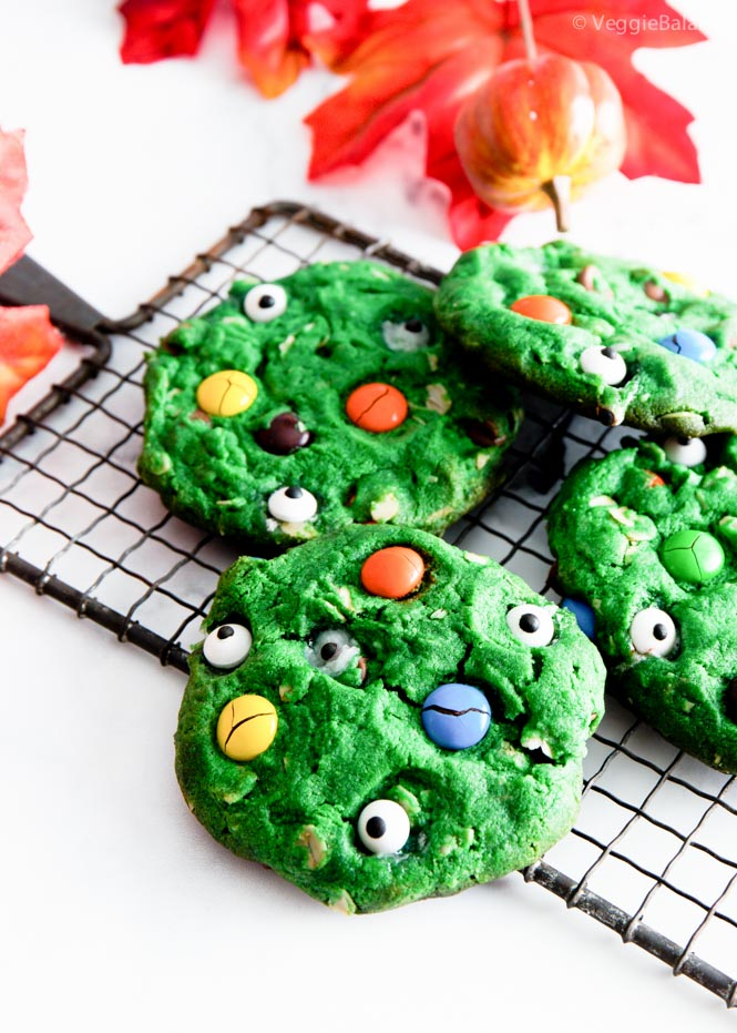 Halloween Monster Cookies Gluten Free