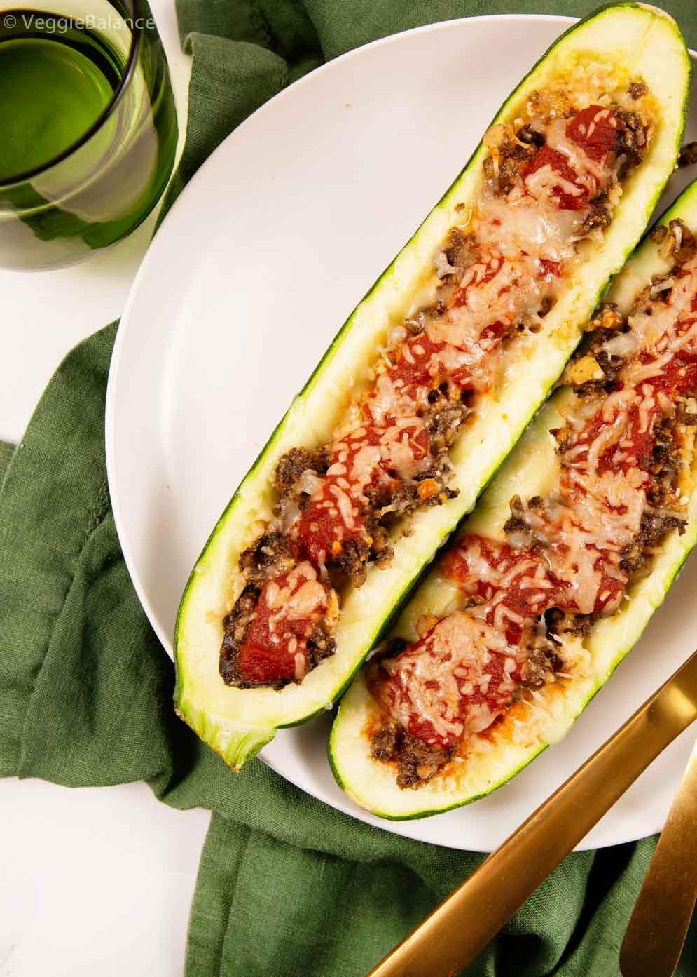Italian Vegetarian Stuffed Zucchini Vegan Stuffed Zucchini
