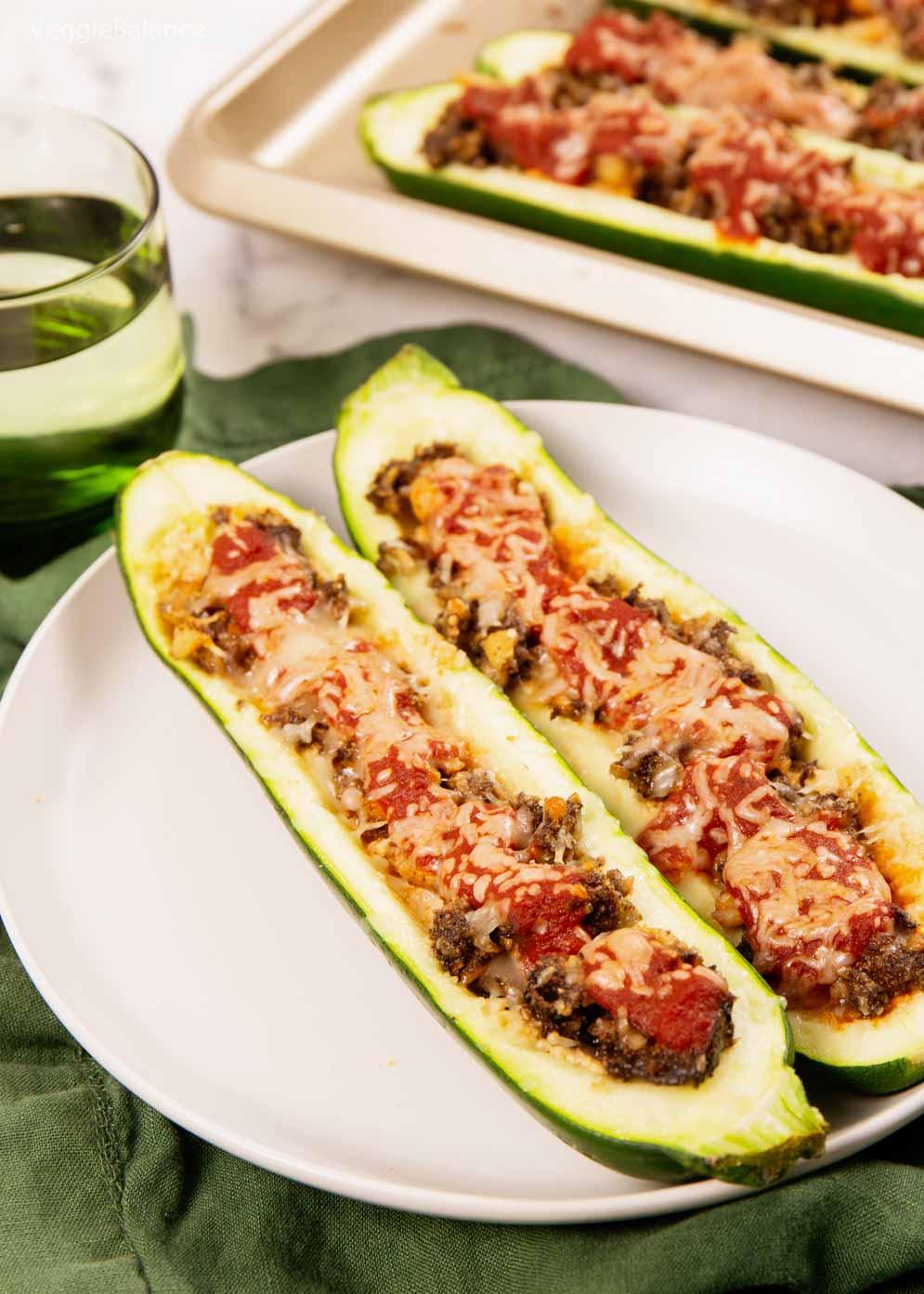 Italian Stuffed Zucchini Vegetarian