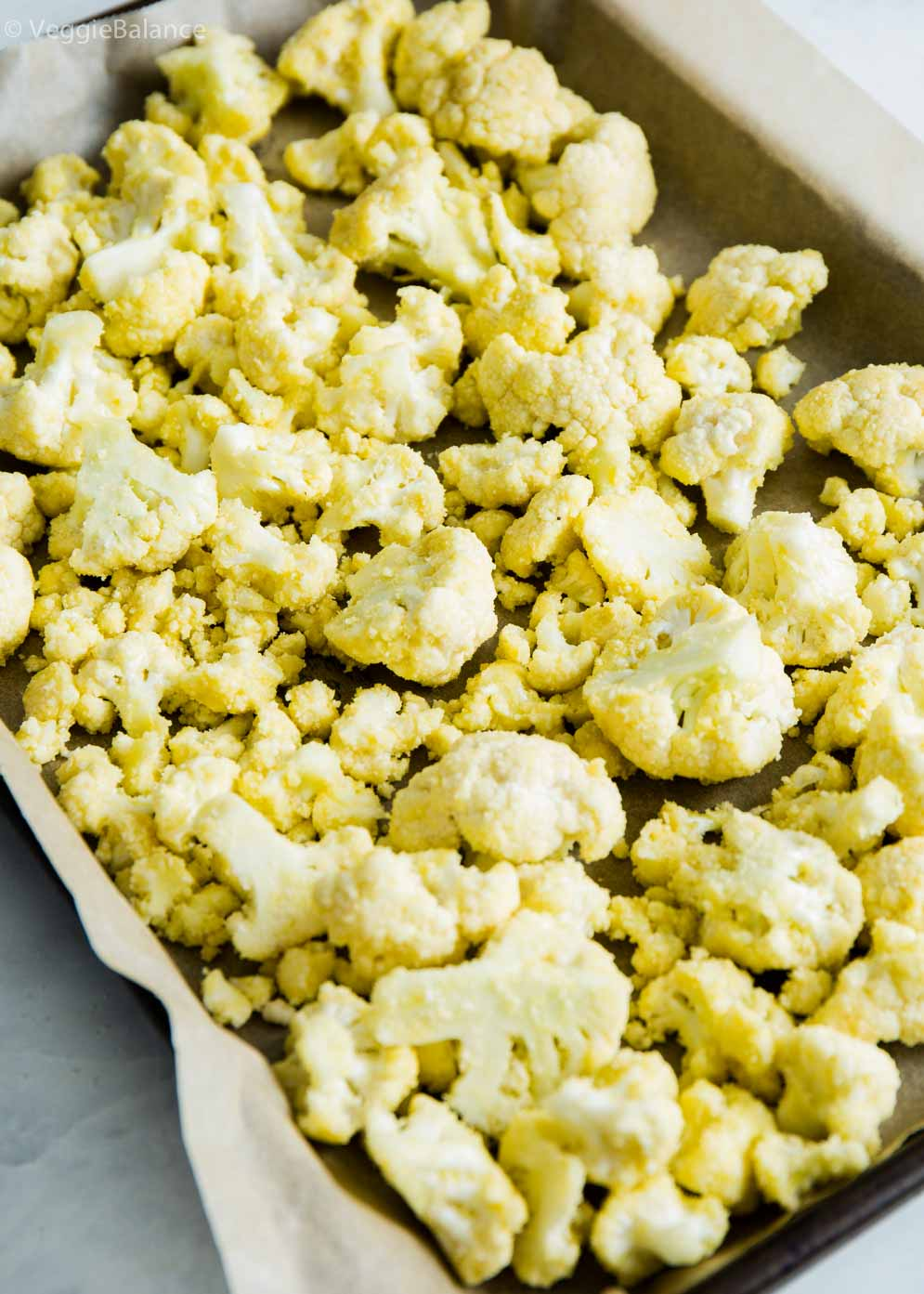 Roasted Cauliflower ready to be served