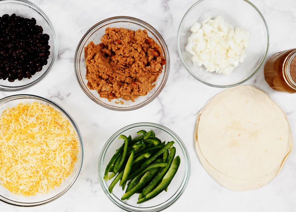 Ingredients you'll need for Black Bean Enchiladas