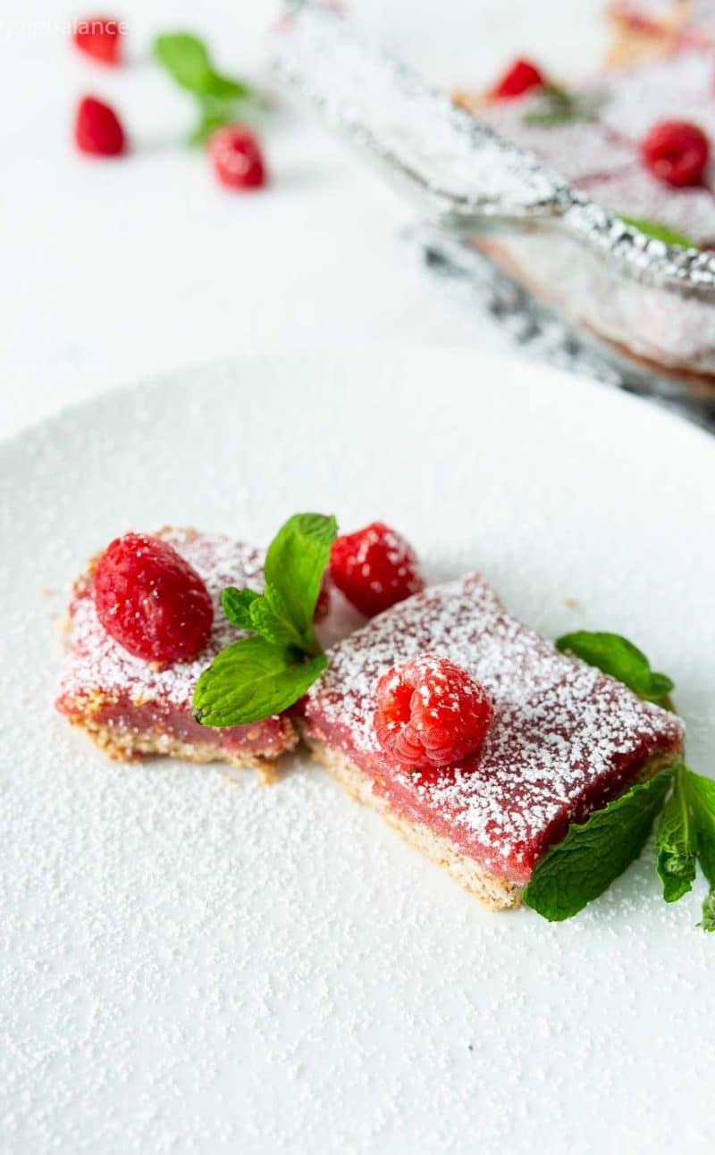 Vegan Raspberry Lemon Bars Recipe