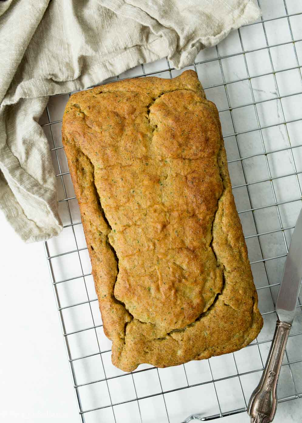 Fresh out of the oven Vegan Gluten-Free Zucchini Bread